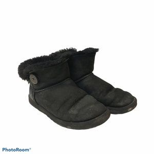 Ugg Mini Bailey Button Boots Black Size 9